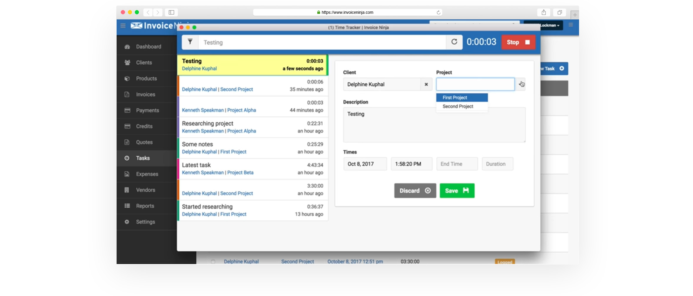 Free Time Tracker Invoice Ninja - Free time tracking and invoicing software electronic stores online