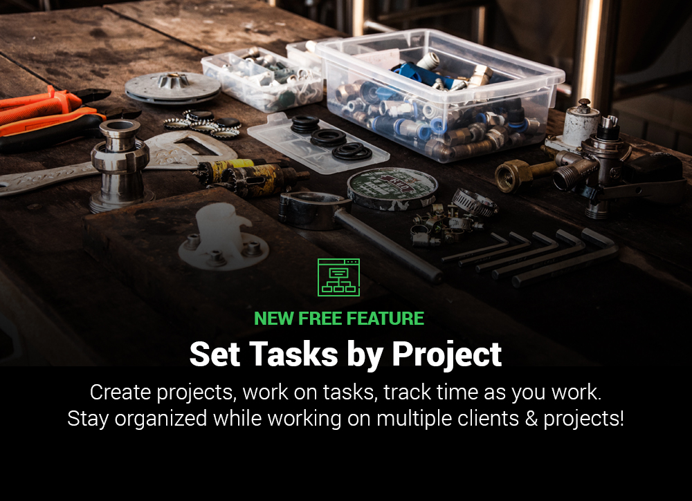 Create Projects & Set Tasks as your Work