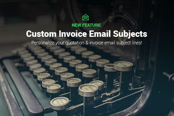 Customize Invoice Email Subjects