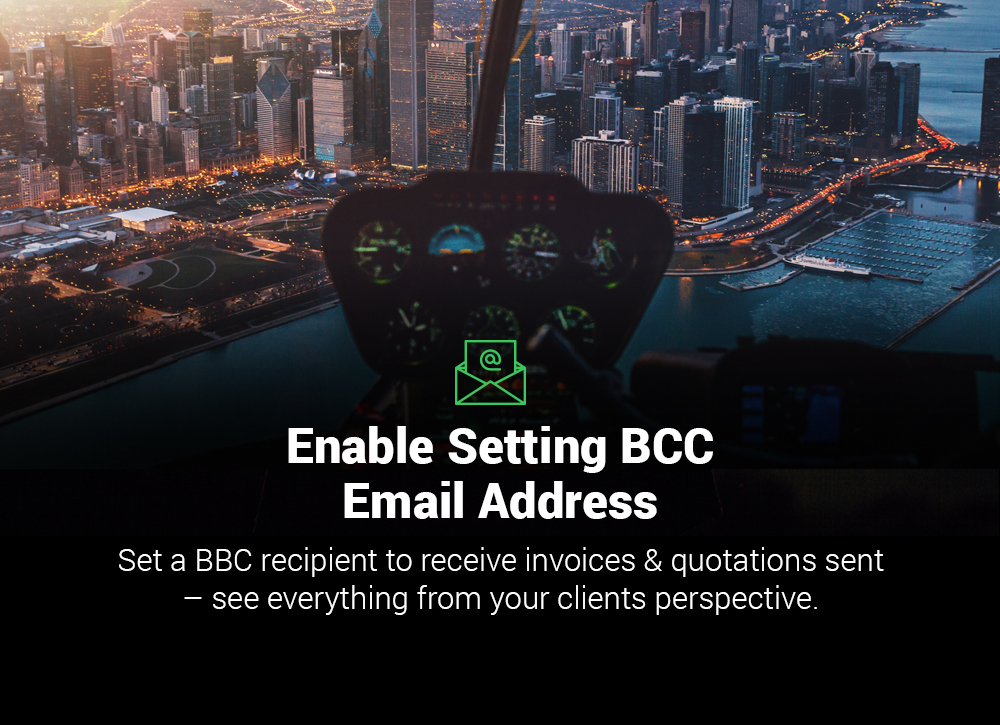 Enable 'BCC' for Invoice Emails